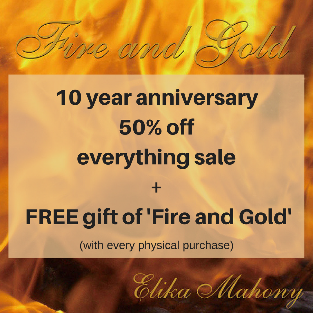 Fire and Gold 10 year anniversary sale