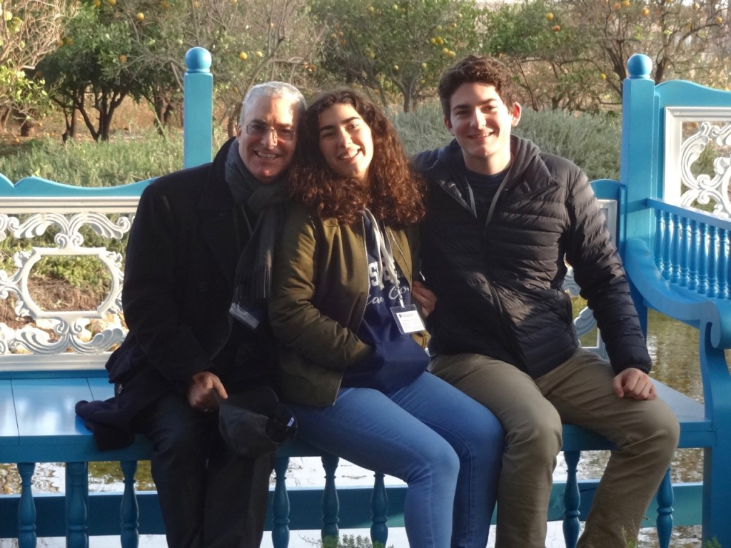 At the Ridvan garden. One of my favorite photographs of our Pilgrimage. My family looks so radiant.