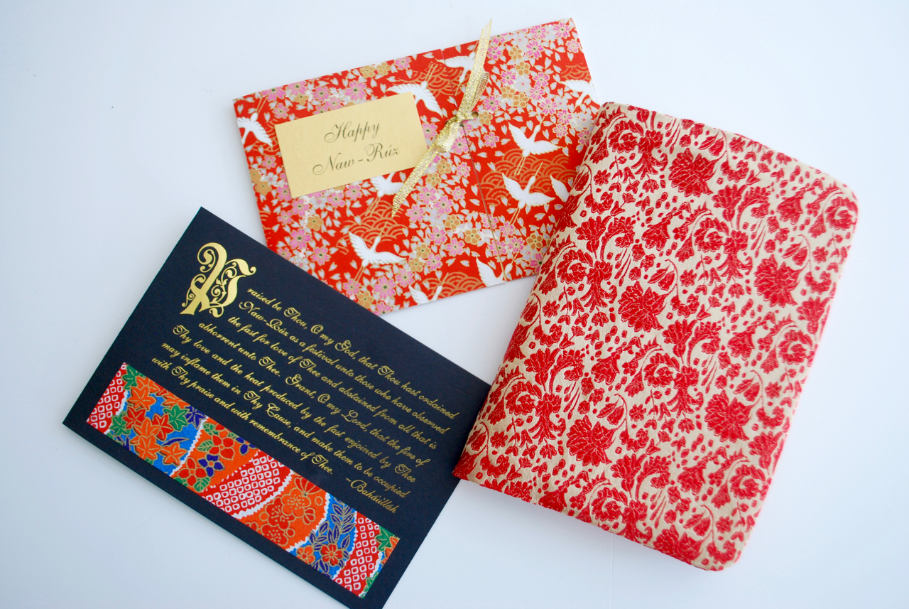 Nawruz cards with prayer book cover