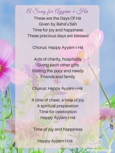 Happy Ayyam-i-Ha lyrics