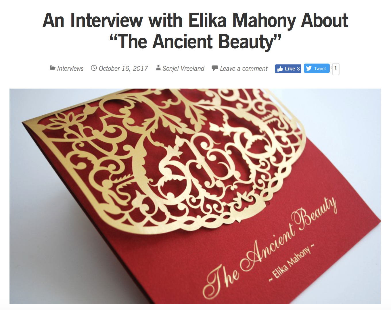 Interview with Baha'i blog