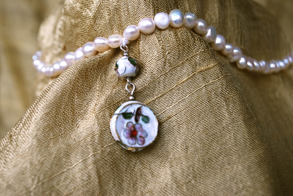 Ivory water color prayer beads