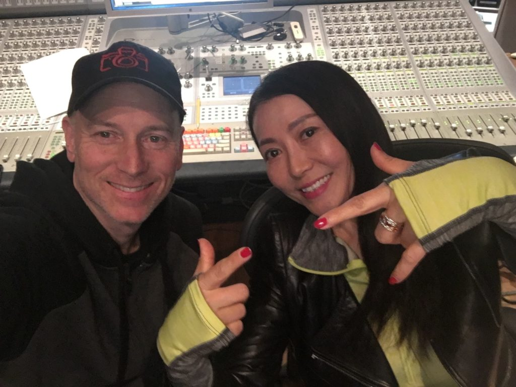 KC and Lin in the studio