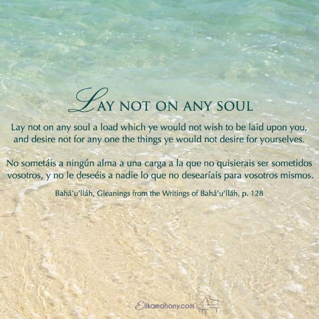 Lay not on any soul