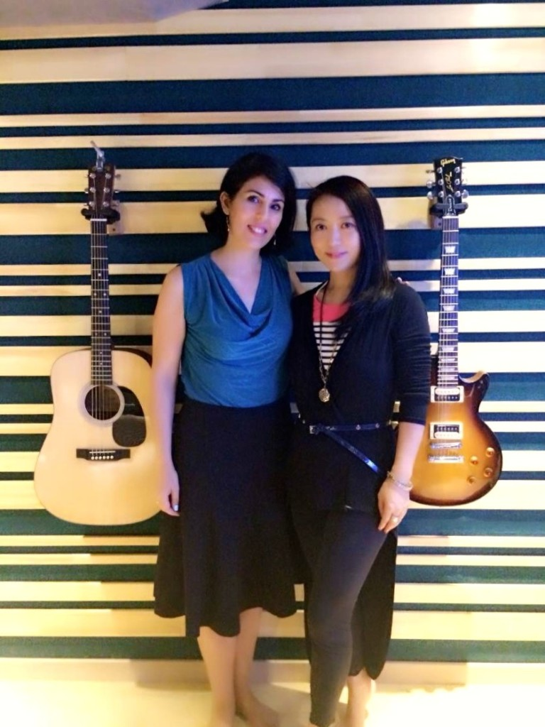 Cheng Lin and I in the studio