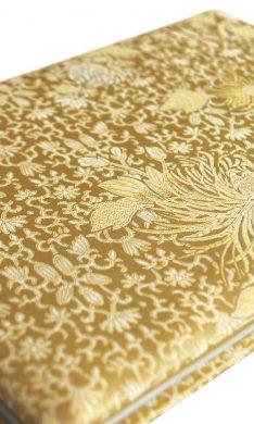 Birds of Love booklet bound in gold silk