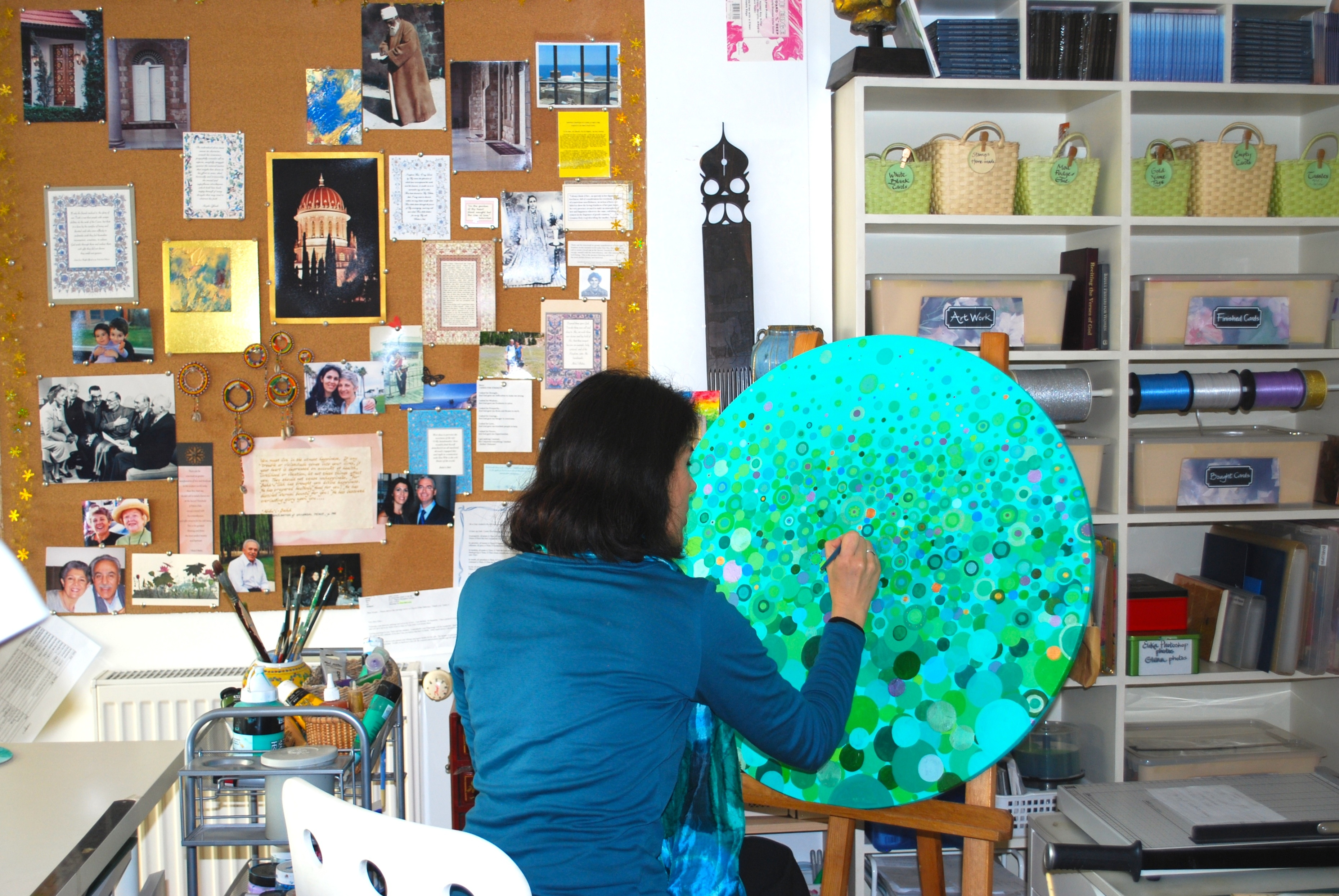 Painting in my studio!