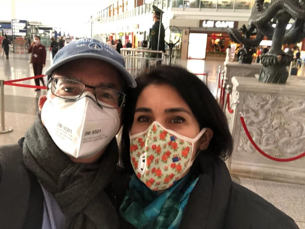 Elika and Tarry with masks