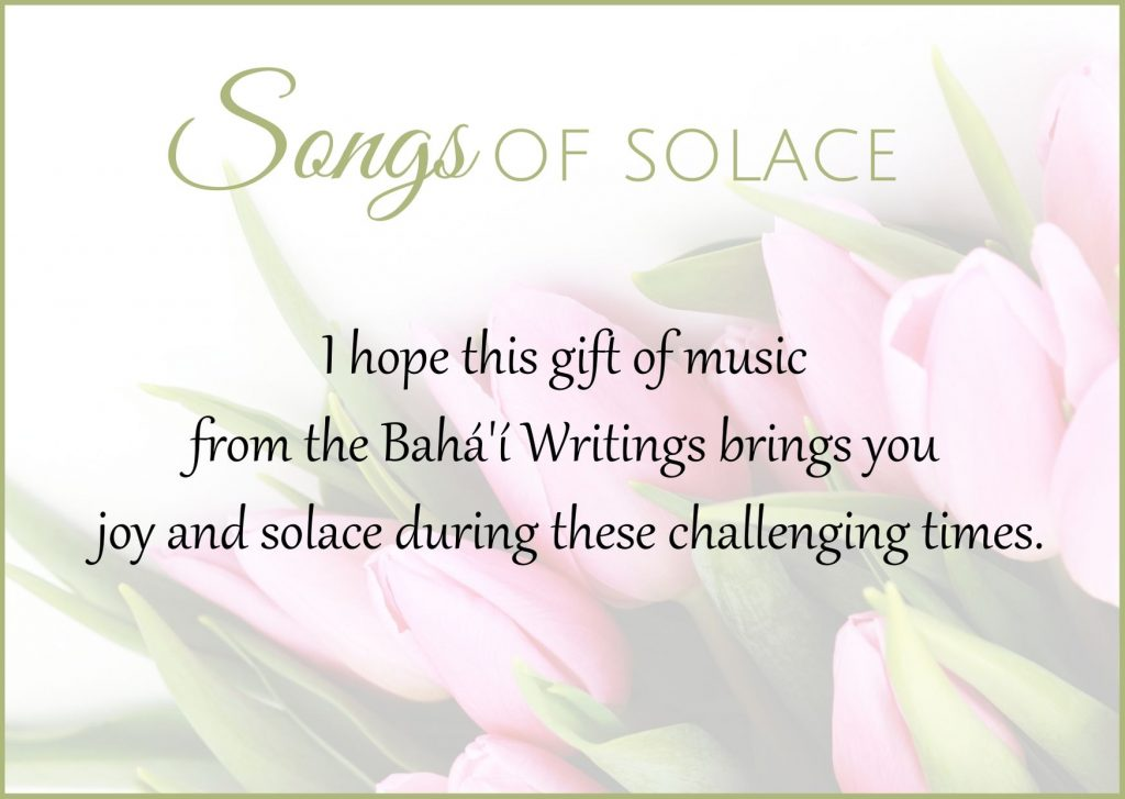 Songs of Solace greeting card