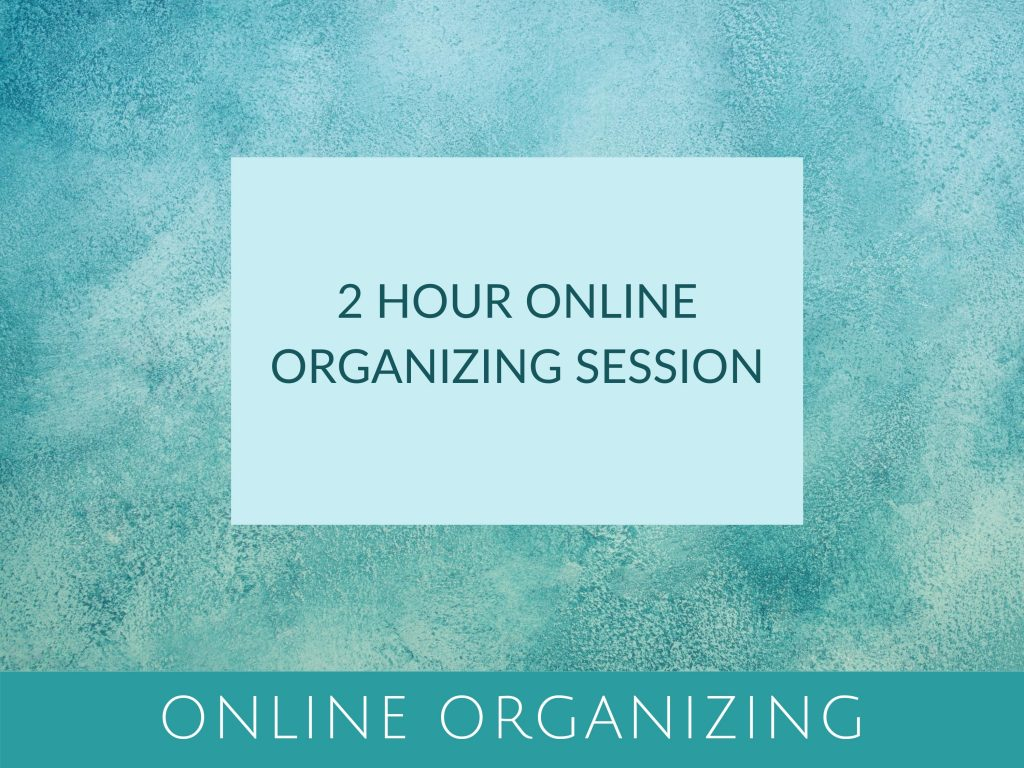 2 hour online organizing session