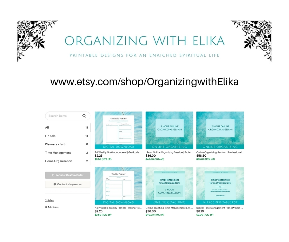 Organizing with Elika – New Shop