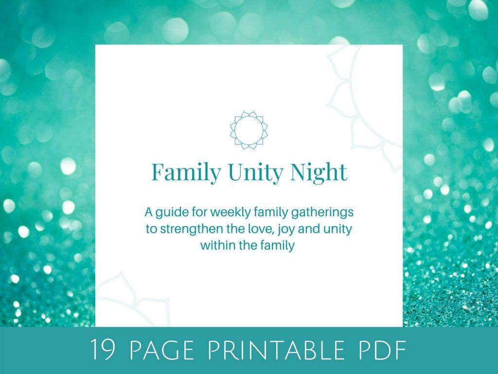 Family Unity Night Elika Mahony