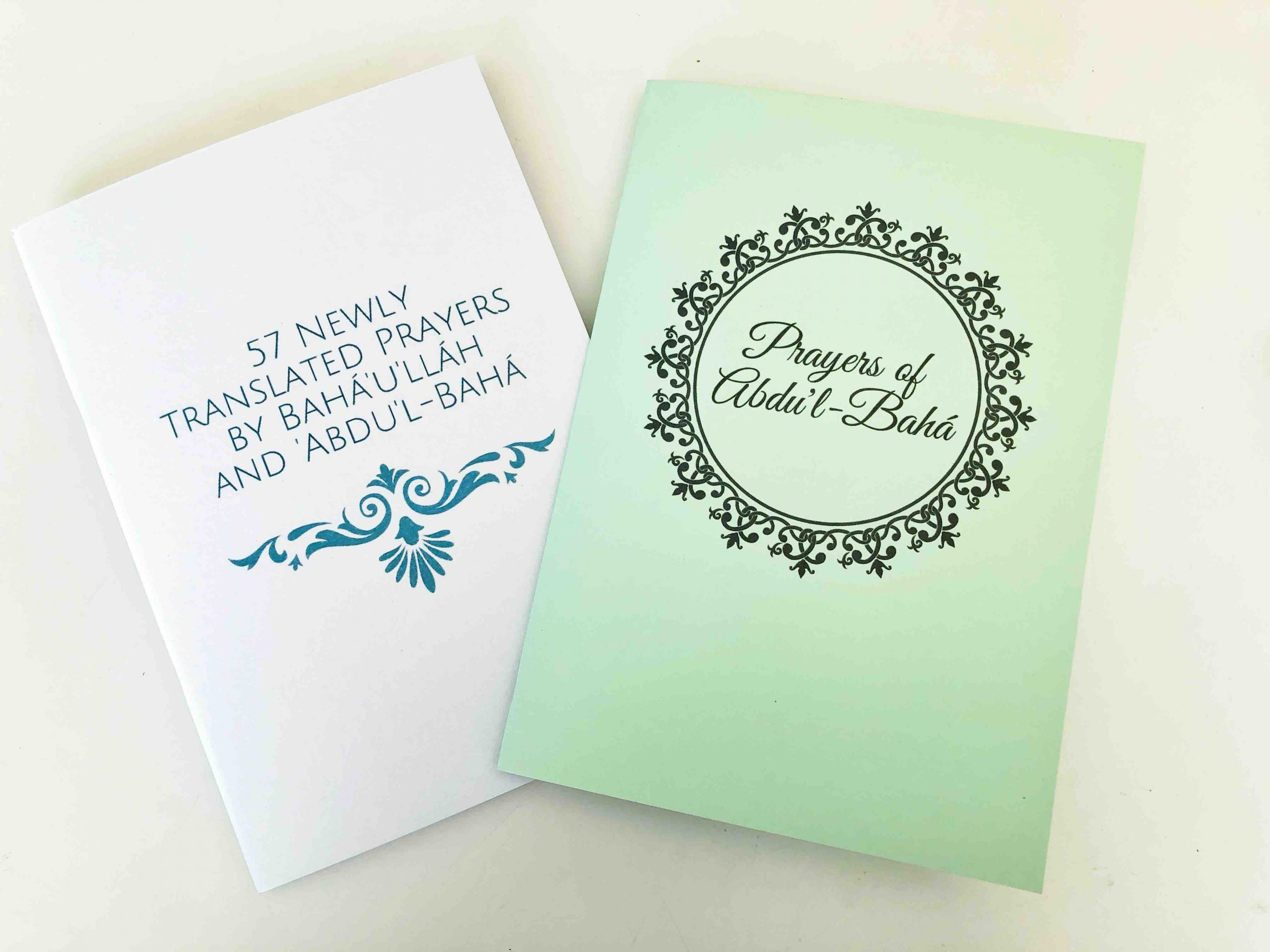 Booklet for 57 Newly Translated Prayers of Baha'u'llah and Abdu'l-Baha
