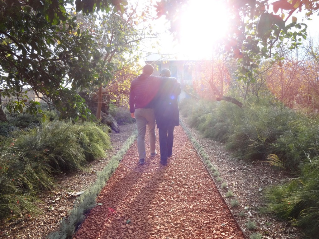 Another favorite photo... father and son walking arm in arm with the sunlight. An inspiring moment.