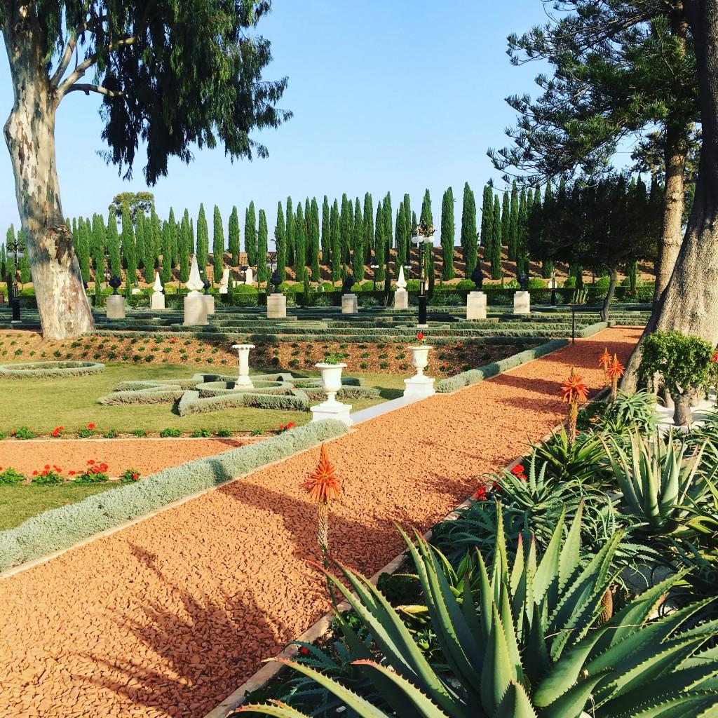Bahji - the exquisite garden that surrounds the Shrine of Bahá'u'lláh in Akka.