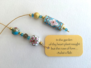 Indian Rose Beaded bookmark