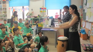 Drumming with the children!