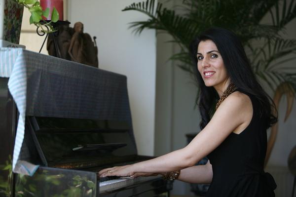 Elika at piano