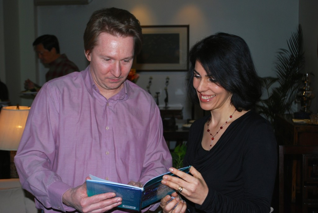 Showing John, my producer, the newly published 'Infinite Bounty' book/CD