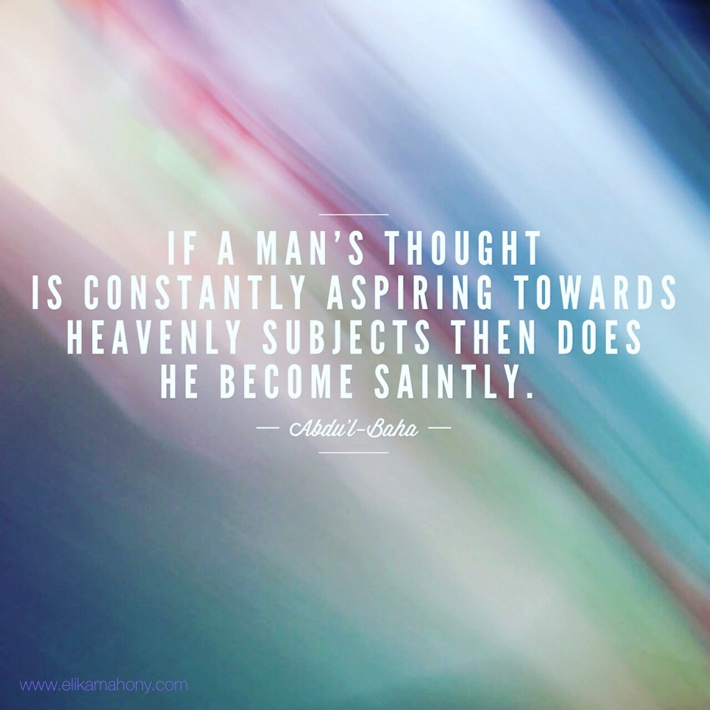 If a mans thought...