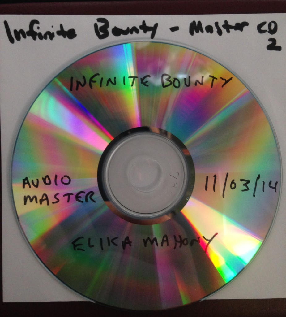 The master disc for 'Infinite Bounty' just before sending it out for duplication.