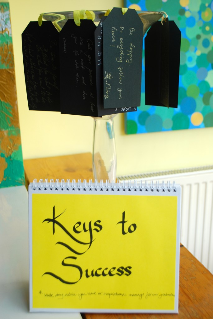 'Keys to Success' - words of guidance from family and friends