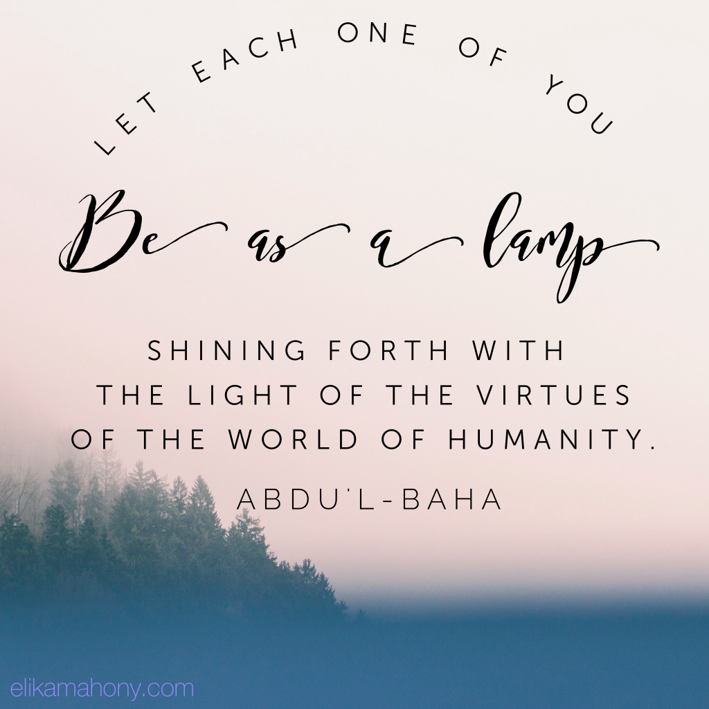 Let each one be as a lamp