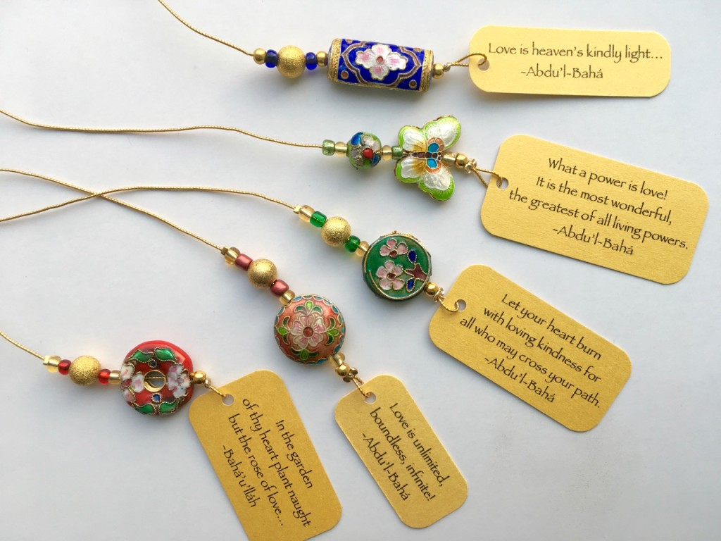 New cloisonné beaded bookmarks