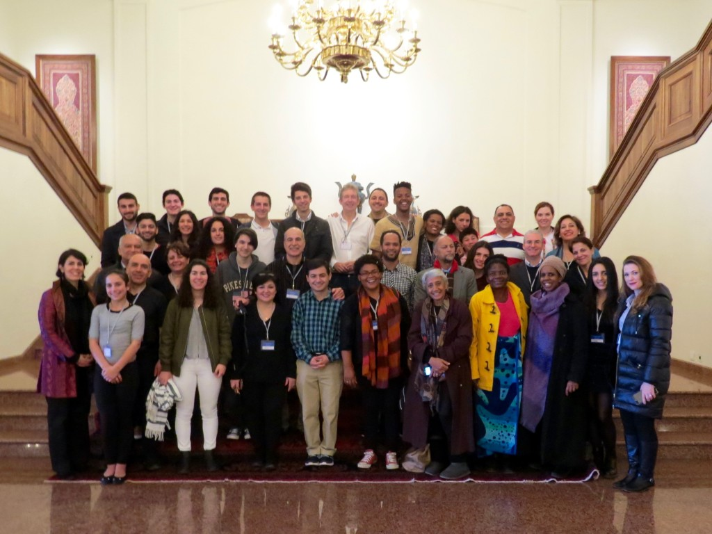 Our Pilgrim group B with friends from diverse parts of the world - such a beautiful group