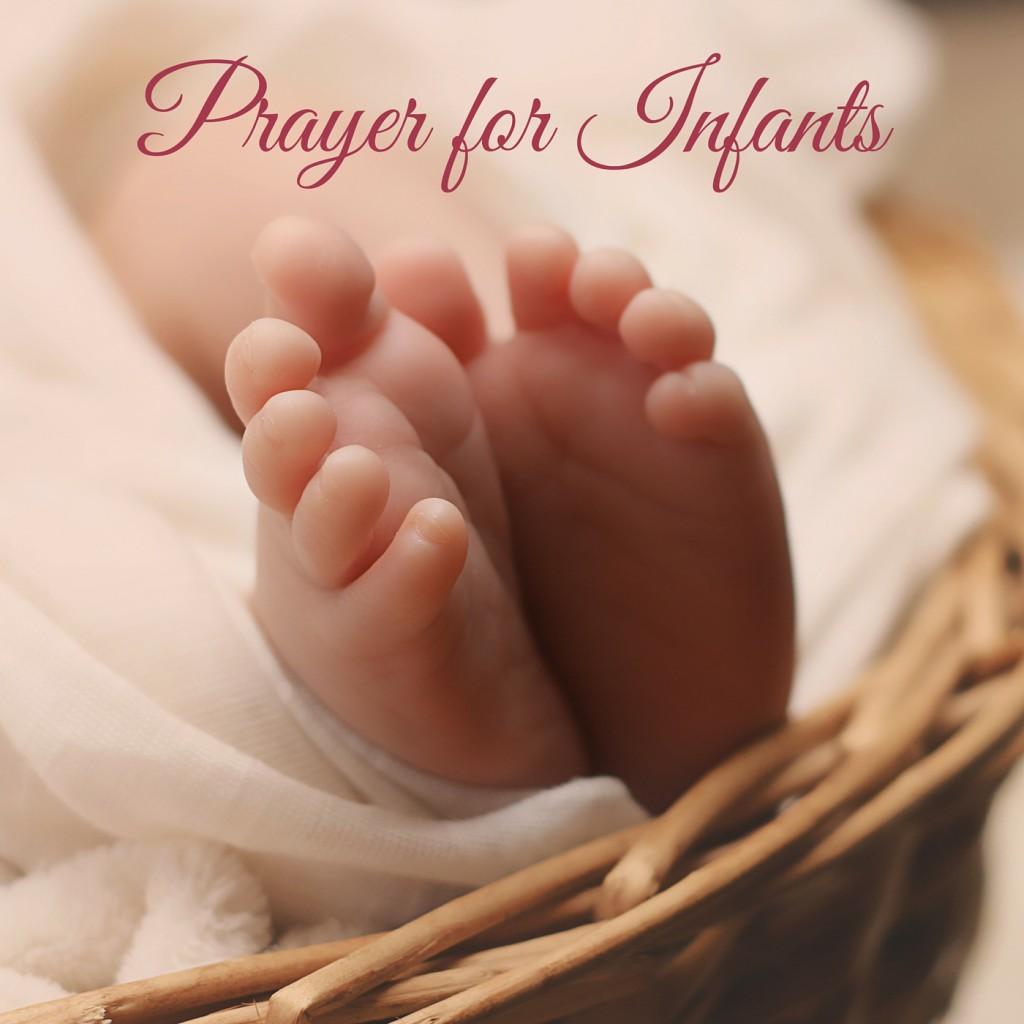 Prayer for Infants flowery font